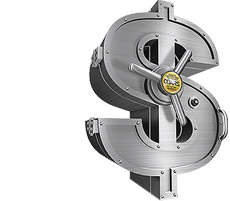 A silver, dollar-shaped sign representing that CDARS can be an Alternative to US Treasuries.